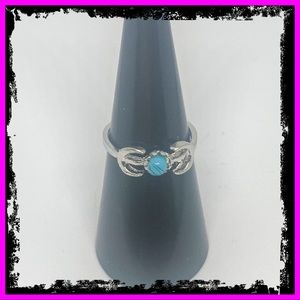Sterling Silver Handmade Moon Turquoise Ring